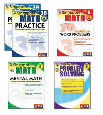 Carson Dellosa Singapore Math Bundle Gr 4