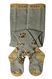 Weri Spezials Baby-Boys Lionet Tights 6-9 months Gray Melange