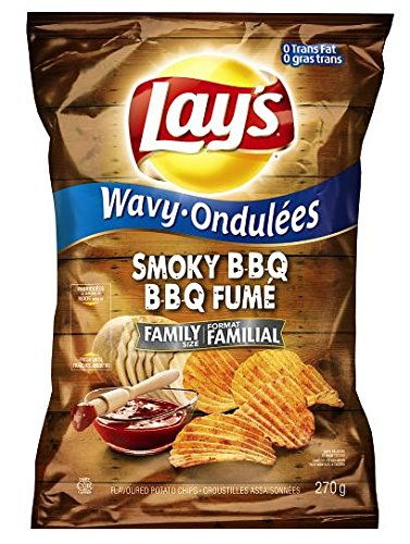 Lay's Wavy Potato Chips, Smokey BBQ, 270 Grams/9.5 Ounces (Wavy Bbq Chips compare prices)