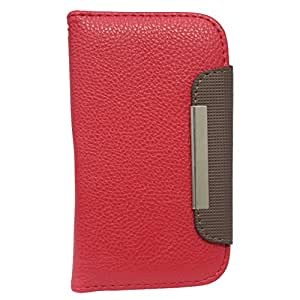 Jo Jo Z Series Magnetic High Quality Universal Phone Flip Case Cover Stand For Xolo Play 6X 1000 Red Dark Brown