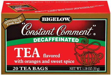 Bigelow Constant Comment Decaffeinated Tea (20 Tea Bags per box) (Pack of 4 boxes) by Bigelow Tea
