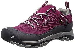 KEEN Women\'s Saltzman WP Hiking Shoe, Beet Red/Neutral Gray, 10 M US