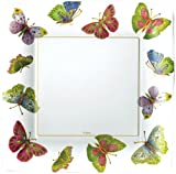 Entertaining with Caspari Jeweled Butterflies Paper Dinner Plates, Ivory, Pack of 8