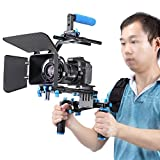 Kit para Filmación Neewer Professional para todas las cámaras y cámaras de video DSLR incluye montura de hombro, follow focus, caja de mate, soporte C y mango de parte superior