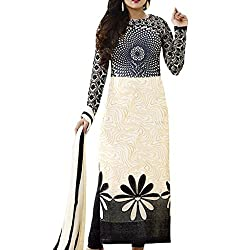 Shree Hari Creation Women's Poly Cotton Unstitched Dress Material (3565_Cream_Free Size)