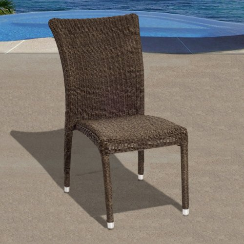 Bari All Weather Wicker Side - of 4 Patio Chair Set