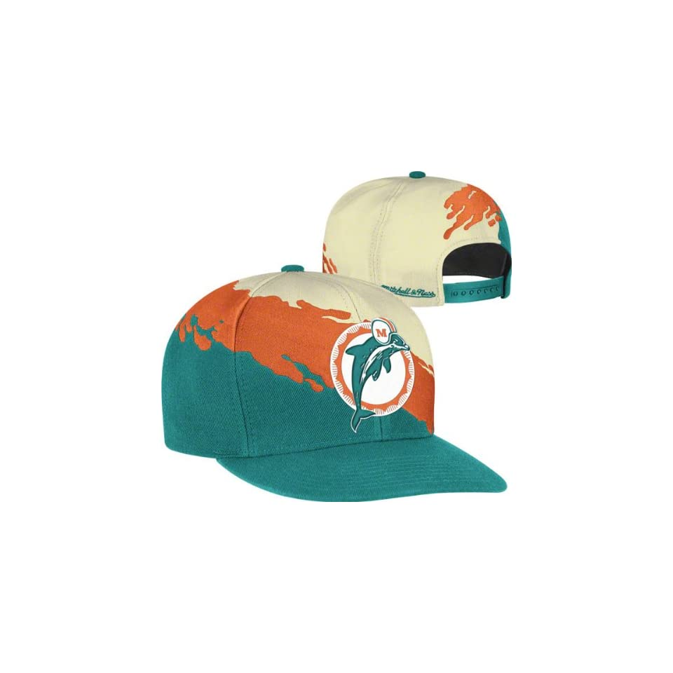 b5e973022d5 Miami Dolphins Mitchell   Ness Vintage Paintbrush Snap Back Hat on ...