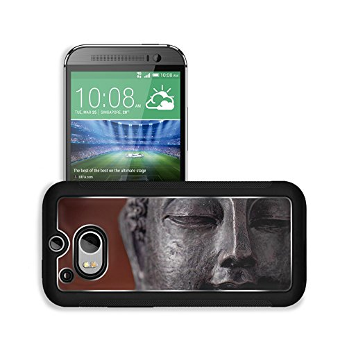 Liili Premium HTC One M8 Aluminum Snap Case buddha head IMAGE ID 11065880 (Premium Cult Edition compare prices)