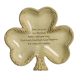 Shamrock Shaped Irish Design Candy Dish