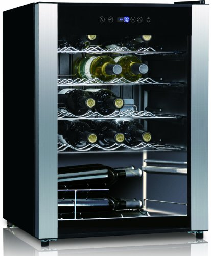 Equator Wr 90-23 2.4 Cu.Ft / 23 Bottles Wine Cooler In Black With Stainless Steel Frame And Glass Door, Spacing-Saving With Flush Back Design, Touch Screen Electronic Control, Holds 23 Wine Bottles, Effective And Energy-Saving, Green And Environmental Pro front-164515