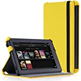 CaseCrown Ace Flip Case Cover (Scorching Yellow) with Elastic Band Closure for Amazon Kindle Fire