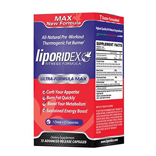 Supplément de perte de poids Liporidex MAX2 - Ultra formule thermogénique Fat Burner métabolisme Booster & coupe-faim - la manière facile de perdre du poids rapidement et augmenter l'énergie - pilules amaigrissantes 72