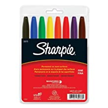 Sharpie Fine Point Permanent Markers, 8 Colored Markers(30078)