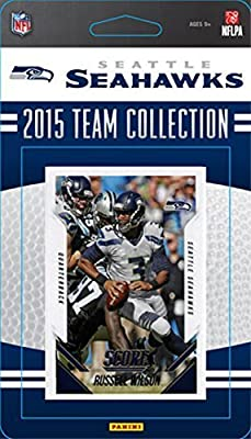 Seattle Seahawks 2015 Score Factory Sealed Complete Mint 12 Card Team Set Including Russell Wilson Marshawn Lynch Plus