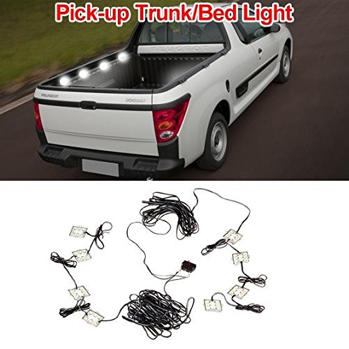 Partsam Universal 8pcs Truck Bed LED Lighting strip Kit (Chevy Truck 1500 compare prices)
