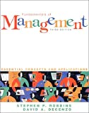 img - for Fundamentals of Management: Essential Concepts and Applications by Stephen P. Robbins (2000-06-01) book / textbook / text book
