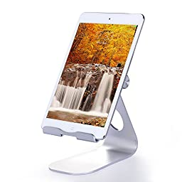 CNBEYOUNG iPad Stand, Multi-Angle Aluminum Stand for iPad Pro, iPad Air 2 / 1, iPad Mini and Samsung Tablets, Kindle Tablets(Silver)