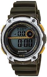 Sonata Digital Grey Dial Mens Watch - 77005PP02J