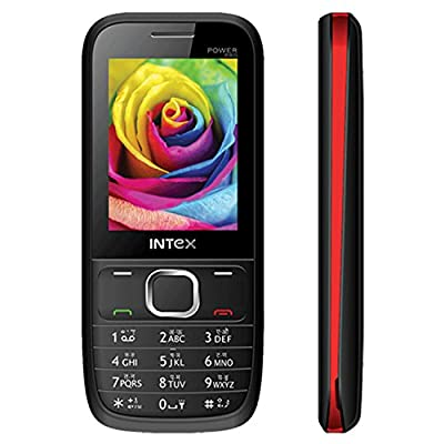 Intex Power Pro (Dual Sim) (Black & Red)