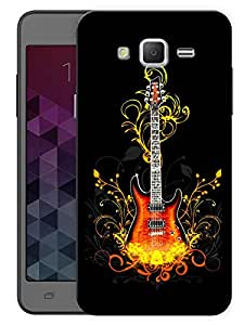 "Humor Gang Guitar On Fire - Music Printed Designer Mobile Back Cover For ""Samsung Galaxy Mega 5.8"" (3D, Matte, Premium Quality Snap On Case)"