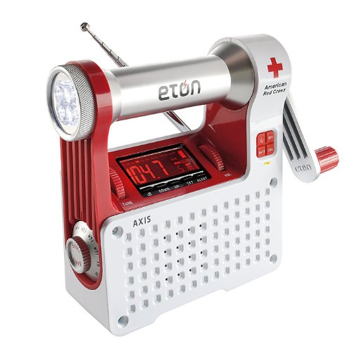 Eton ARCPT300W American Red Cross Axis Self-Powered Safety Hub with Weather Radio and USB Cell Phone Charger