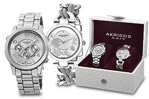 Akribos XXIV Stainless Steel Watch Set AK676SS