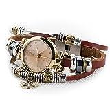 Fashion Women's Lady's Wrist Bracelet Leather Watch with Retro Butterfly Charm Gift