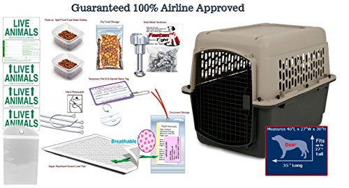 "40 ""L x 29?H Airline Approved Pet Travel kennel Package"