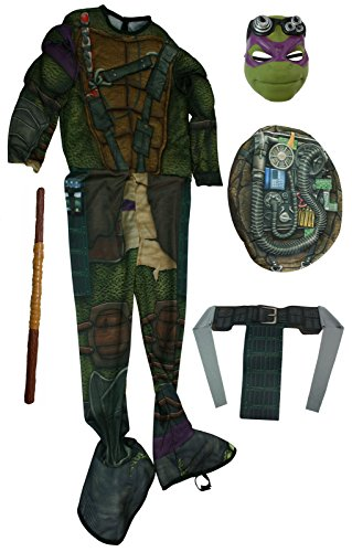 Rubies Green Donatello Ninja Turtles Halloween Costume & Bo Staff [888973 + NE21]