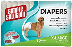 Simple Solution Disposable Diapers, X-Large, 12 Pack
