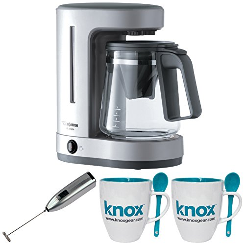 Zojirushi ECDAC50SA Zutto Coffee Maker w/ Knox Mugs & Knox Milk Frother