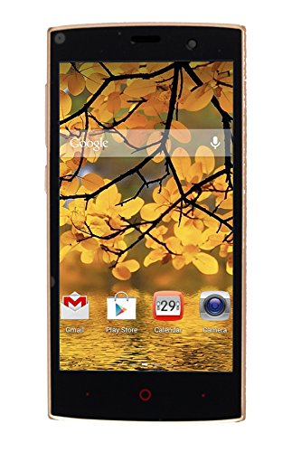 Admet Boom J7 Gold 5 Inch Touchscreen Mobile Dual Sim Andorid 5.0.2 Lollipop with 1 GB RAM and 4 GB Internal Memory ( Gold)