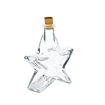 24x Zeller Bouteille Verre avec paille flacon en verre verre Flacon 250 ml