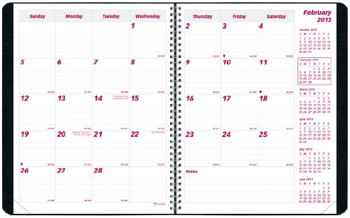 Brownline 2012-2013 Monthly Planner, Academic 16 Months (September 2012 - December 2013), Twin-Wire, Black, 11 x 8.5-Inches (CB1260.BLK-13)