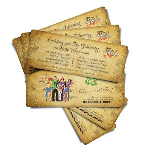"""80 Einladungskarten zum Geburtstag """"Party People"""""""