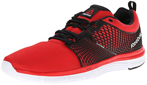 Reebok Men's Zquick Dash Running Shoe, Red Rush/Black/White, 9 M US