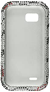 Aimo LGMTQPCLDI650 Dazzling Diamond Bling Case for LG MyTouch Q C800 - Retail Packaging - Zebra Lips