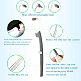 Teeth Whitening,ZJchao Multifunction Sonic Tooth Stain Eraser Teeth Polishing Plaque Remover Dental Tool with LED Light - AAAA Battery Include