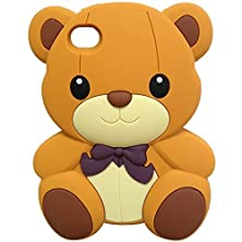 buy Ipod Touch 4 Case, Magicmobile® Impact Resistant Shockproof Protective Case For Ipod Touch 4 / 4Th Soft Rubber Silicone Skin [3D Teddy Bear Pattern] Design Amor Case Cover For Ipod Touch 4Th Genaration