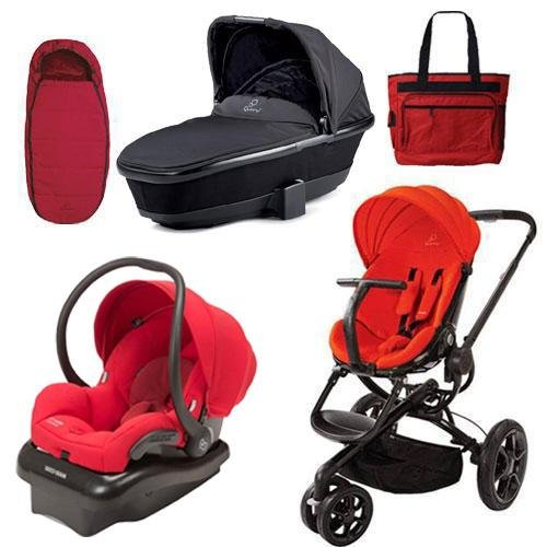 Quinny Cv078Bhr Moodd Stroller Complete Collection In Red Envy front-956765