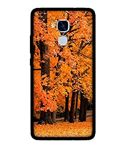 Chnno 2d nature Printed Back Cover For Huawei Honor 5C No- 1492