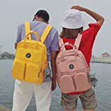 Large Women Backpack Multi-Pocket Large Capacity Can Hold Laptop Waterproof for Working and Shool (Pink) (Color: Pink, Tamaño: Multi-pocket)