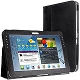 EasyAcc® Hülle Tasche mit Ständer für Samsung Galaxy Note 10.1 N8000 N8100 16G/32G WIFI/3G,Schwarz PU Leder, (Nicht kompatibel mit der Note 10.1 2014 Edition)