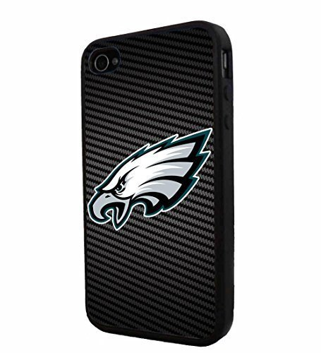 American Football NFL PHILADELPHIA EAGLES, Cool iPhone 4 / 4s Smartphone iphone Case Cover Collector iphone TPU Rubber Case Black (Football Iphone 4 Case compare prices)