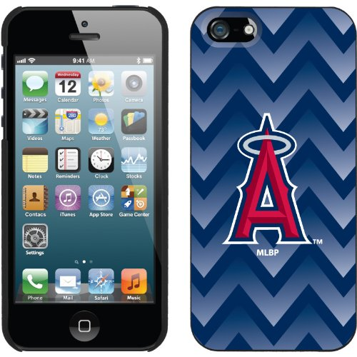 Great Price LA Angels of Anaheim - Gradient Chevron design on a Black iPhone 5s / 5 Thinshield Snap-On Case by Coveroo