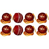 Ayan Sports Practice Red Cricket Ball - Size: 5, Diameter: 2.5 Cm (Pack Of 8, Red)