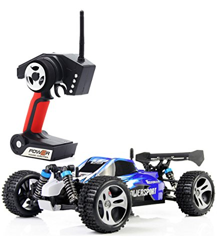 TOZO RC CAR High Speed 32MPH 4x4 Fast Race Cars 1:18 RC SCALE RTR Racing 4WD ELECTRIC POWER BUGGY W/2.4G Radio Remote control Off Road Truck Powersport Roadster Blue (Rc Electric Car Fast compare prices)