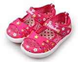 LISA HANDMADE Kids Leisure Mesh Sneakers Baby Girls' Toddlers' Big Kids Breathable Walking Shoes Rose Red