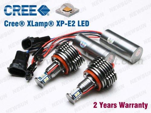 Newsun Bmw Angel Eyes Upgrade 40W H8 Cree Led Marker Lights 7000K White 1 Series E87 E82 E88, 3 Series E90 E91 E92 E93 M3, 6 Series E63 E64 M6, X5 E70, X6 E71