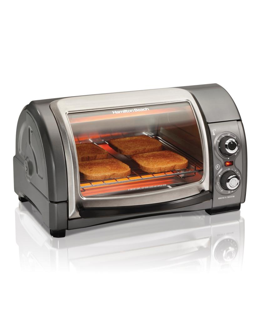 Hamilton Beach 31334 Easy Reach Toaster Oven Metallic Ebay